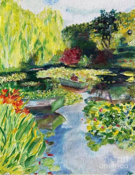 Painting - Tending The Pond by Mkc