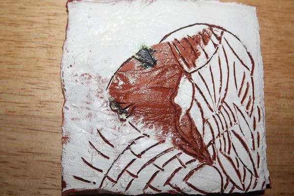 Ceramic Art - Tendo - Tile by Gloria Ssali