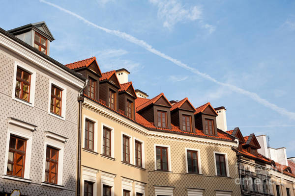 Wall Art - Photograph - Tenement Houses Roofs In Lublin by Arletta Cwalina