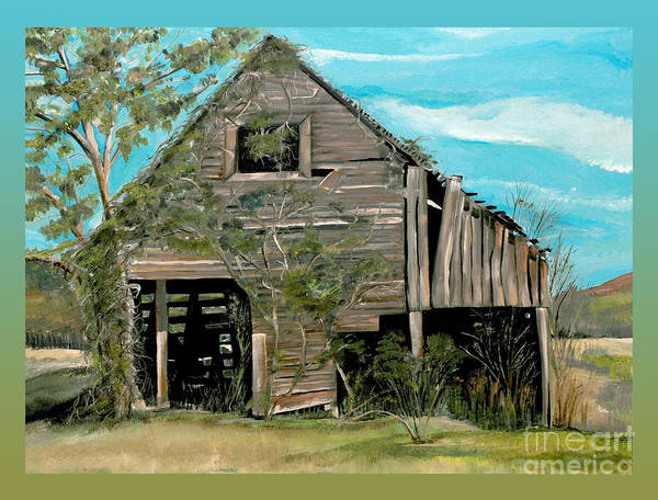 Painting - Tennessee -mooresburg - Gradient Border by Jan Dappen