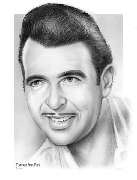 Wall Art - Drawing - Tennessee Ernie Ford by Greg Joens