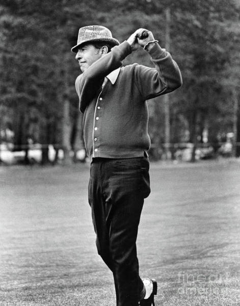 Photograph - Tennessee Ernie Ford, Singer And Actor Golfer At Pebble Beach Nati by California Views Archives Mr Pat Hathaway Archives
