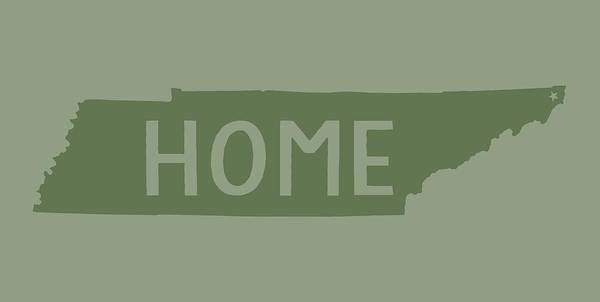 Digital Art - Tennessee Home Green by Heather Applegate