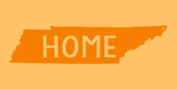 Digital Art - Tennessee Home Orange by Heather Applegate