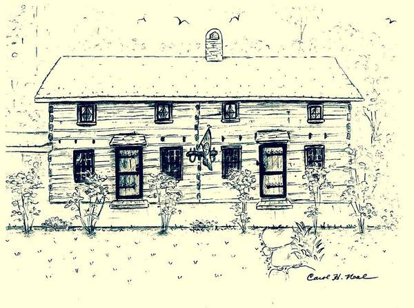 Homestead Drawing - Tennessee Homestead by Carol Neal