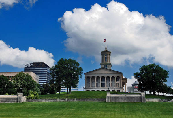 Greek Revival Architecture Photograph - Tennessee State Capitol Nashville by Susanne Van Hulst