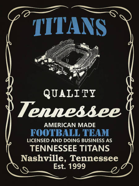 Whiskey Mixed Media - Tennessee Titans Whiskey by Joe Hamilton