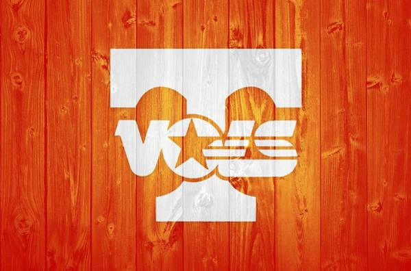 Wall Art - Mixed Media - Tennessee Volunteers Barn Door by Dan Sproul