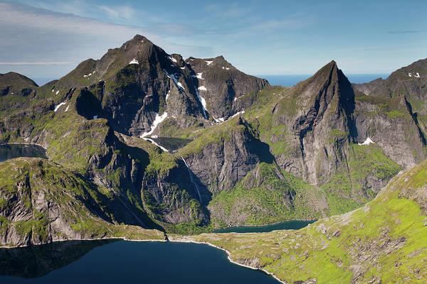 Photograph - Tennesvatnet And Mountains From Munken by Aivar Mikko