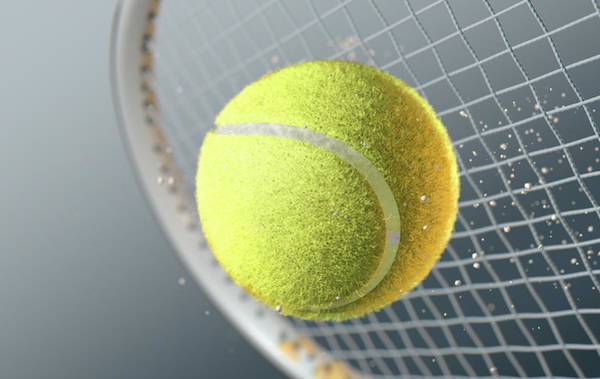 Hit Digital Art - Tennis Ball Striking Racqet In Slow Motion by Allan Swart