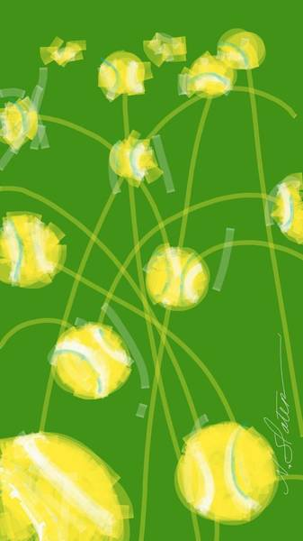 Wall Art - Digital Art - Tennis Balls At Me by Nicole Slater