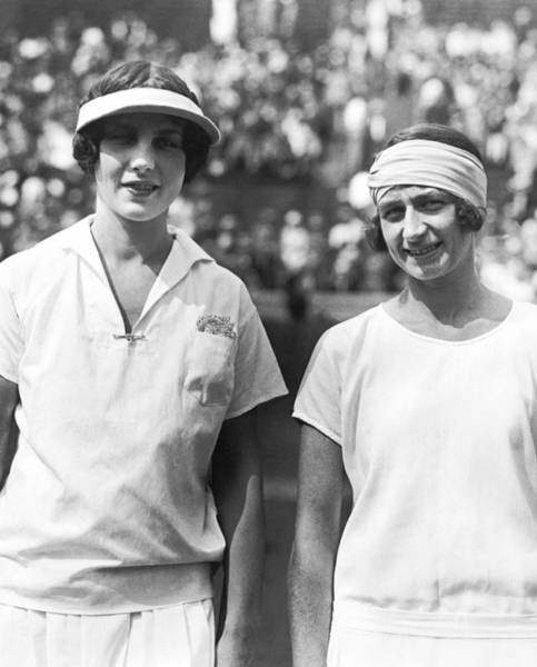 Photograph - Tennis Champion Helen Wills by Underwood Archives