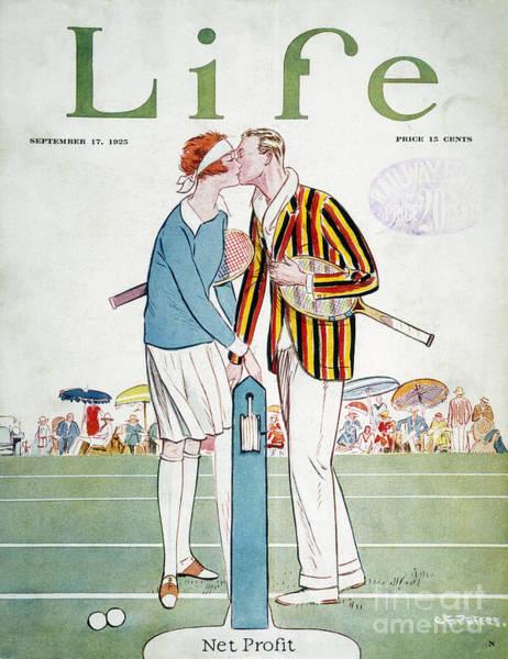 Aod Wall Art - Photograph - Tennis Court Romance, 1925 by Granger