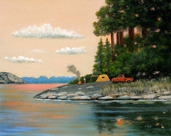 Campsite Wall Art - Painting - Tent Camper by Gordon Beck
