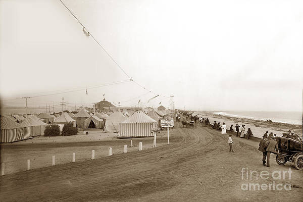 Photograph - Tent City View South Down Silver Strand Coronado  1905 by California Views Archives Mr Pat Hathaway Archives