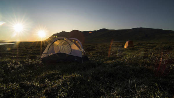 Tenting In The Midnight Sun Art Print