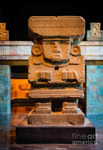 Photograph - Teotihuacan Sculpture by Inge Johnsson