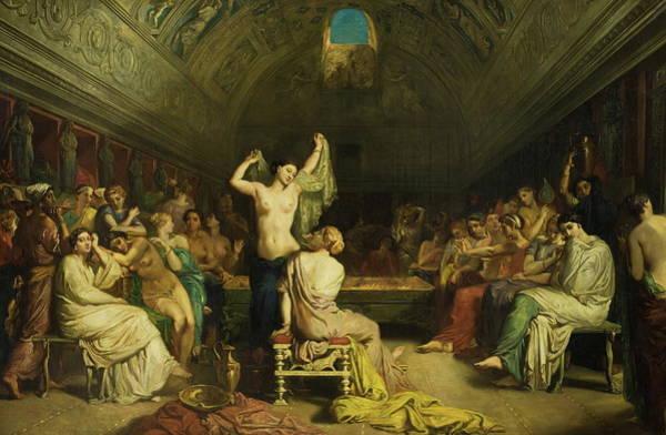 Tepidarium Painting - Tepidarium by Thodore Chassriau