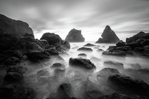Tepona Point In Black And White Art Print