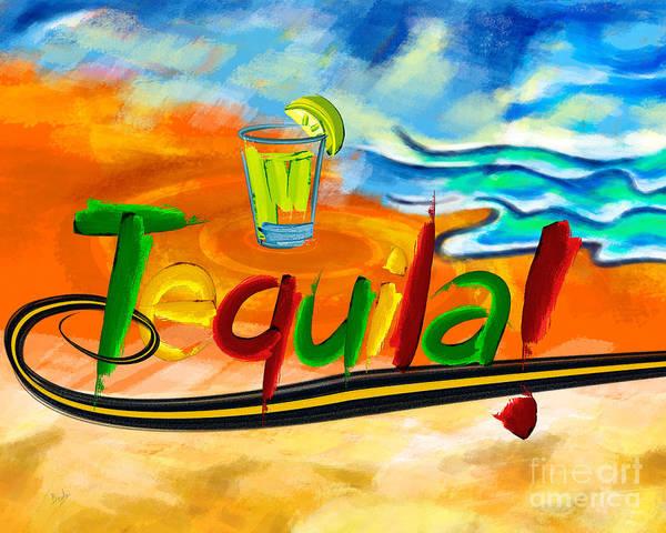 Wall Art - Digital Art - Tequila by Peter Awax