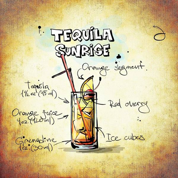Digital Art - Tequila Sunrise  by Movie Poster Prints