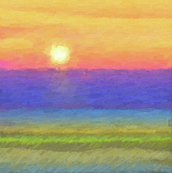 Digital Art - Tequila Sunrise To Remember by Serge Averbukh