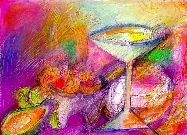 Avocado Mixed Media - Tequilas by Lydia L Kramer