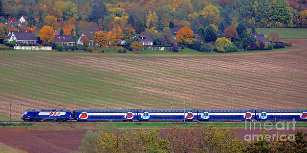 Photograph - Ter French Regional Train by Olivier Le Queinec
