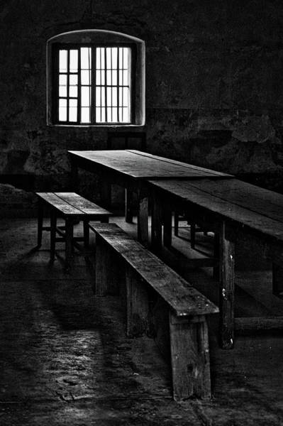 Terezin Photograph - Terezin Tables, Benches And Window by Stuart Litoff