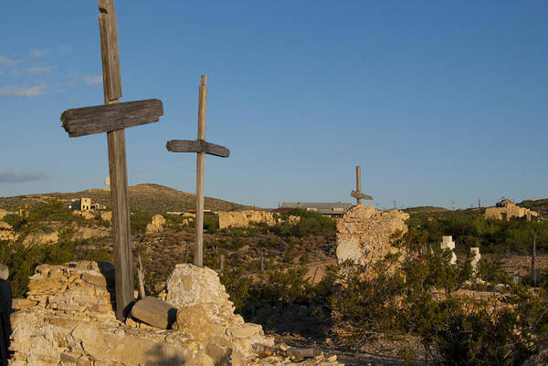 Lost River State Park Wall Art - Photograph - Terlingua Cemetery by Kevin Bain