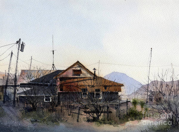 Butte Painting - Terlingua Trading Post Vista by Tim Oliver