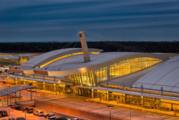 Photograph - Terminal 2, Raleigh - Durham 9590 by Dan Beauvais