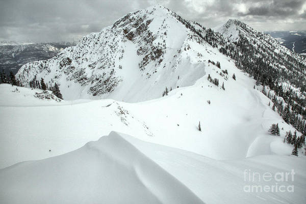 Photograph - Terminator Peak Snow Drifts by Adam Jewell