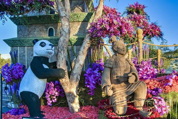 Tournament Of Roses Photograph - Terra Cotta Warrior And Panda by David Zanzinger