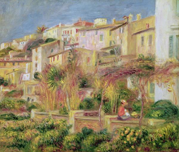 Wall Art - Painting - Terrace In Cagnes by Pierre Auguste Renoir