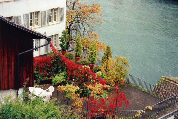 Wall Art - Photograph - Terrace Overlooking The Limmat River In Zurich Switzerland by Susanne Van Hulst