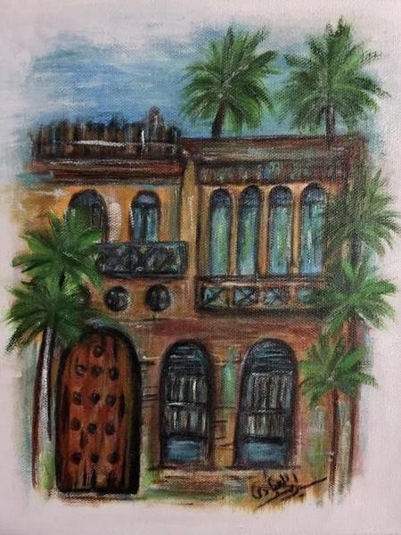 Baghdad Painting - Terrace by Siran Ajel