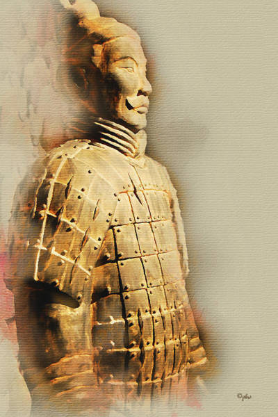 Digital Art - Terracotta Soldier by Paulette B Wright