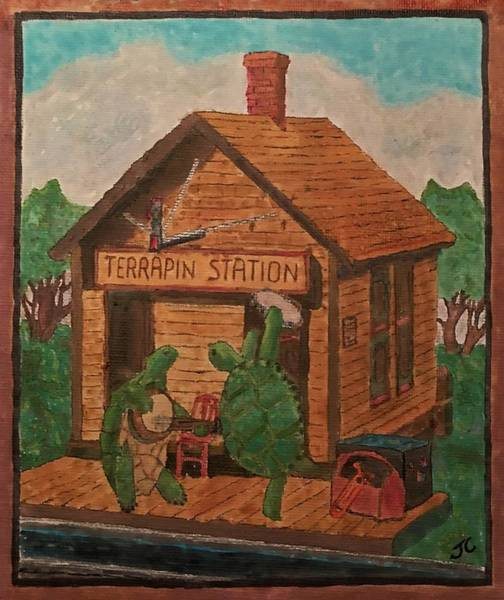 Terrapin Station Painting - Terrapin Station by John Cunnane