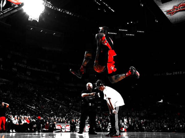 Husky Mixed Media - Terrence Ross Taking Flight by Brian Reaves