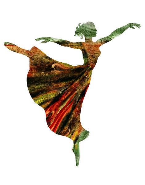 Painting - Terrestrial Morning Ballerina Silhouette by Irina Sztukowski