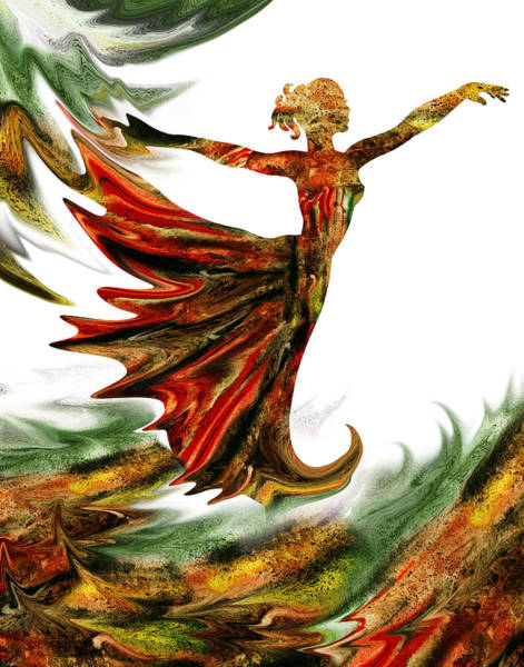 Painting - Terrestrial Wind Dance by Irina Sztukowski