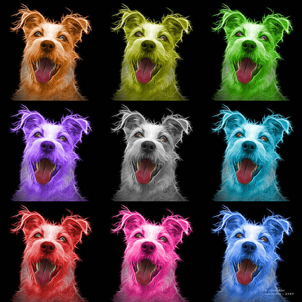 Painting - Terrier Mix 2989 - Bb - M by James Ahn