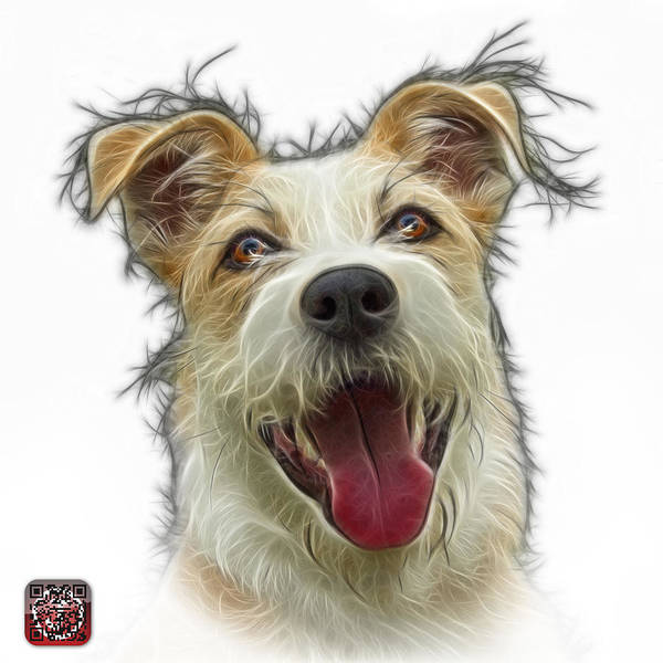 Painting - Terrier Mix 2989 -wb by James Ahn