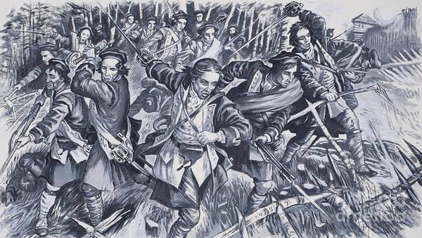 Wall Art - Painting - Terror At Ticonderoga by English School