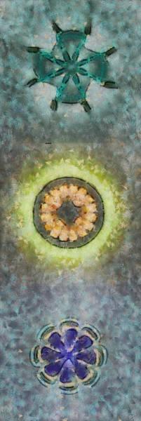 Lurksart Painting - Terroristic In The Buff Flowers  Id 16164-105349-07900 by S Lurk