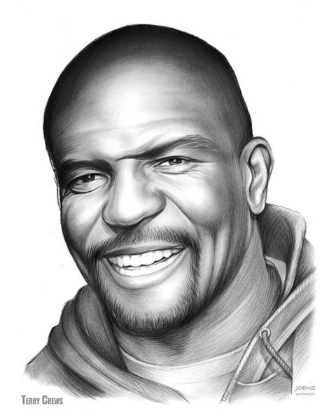Wall Art - Drawing - Terry Crews by Greg Joens