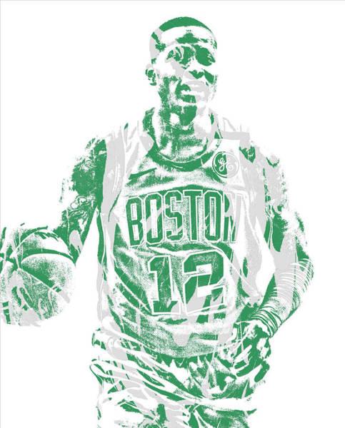 Wall Art - Mixed Media - Terry Rozier Boston Celtics Pixel Art 11 by Joe Hamilton