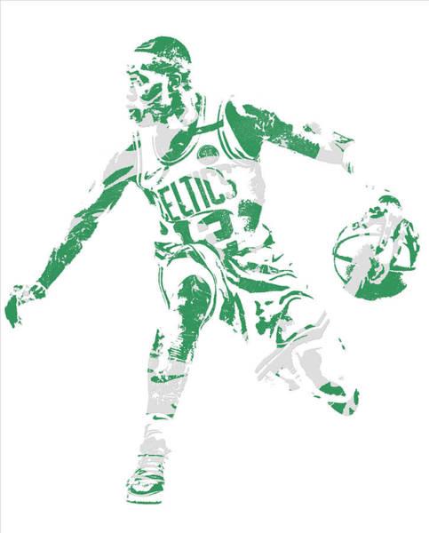 Wall Art - Mixed Media - Terry Rozier Boston Celtics Pixel Art 13 by Joe Hamilton
