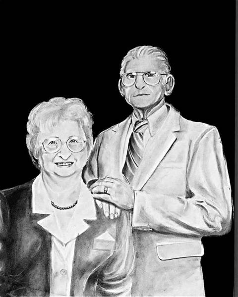 Wall Art - Drawing - Terry's Parents  by Cristina Sofineti